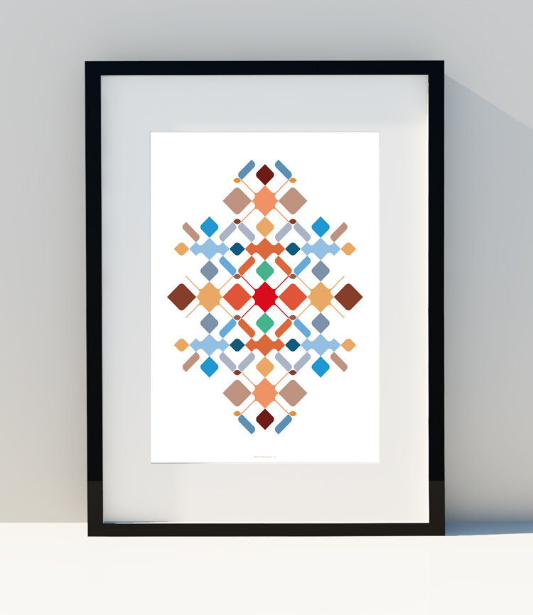 Asymmetrical shapes and colors I